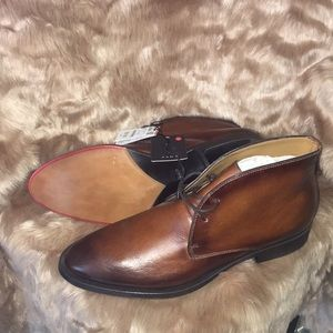 Dark brown leather. Men's dress shoes from Zara
